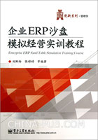 企业ERP沙盘模拟经营实训教程