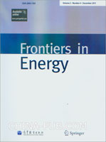 (赠品)Frontiers in Energy(Volume 5. Number 4. December 2011)