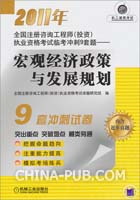 2011年全国注册咨询工程师(投资)执业资格考试临考冲刺9套题 宏观经济政策与发展规划