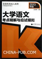 大学语文考点精解与应试模拟(2013年版)