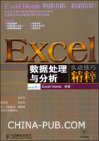 Excel数据处理与分析实战技巧精粹