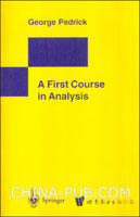(特价书)A first course in analysis