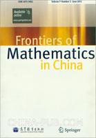 (赠品)Frontiers of Mathematics in China期刊(英文)Volume7.Number3.June2012