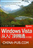 (特价书)Windows Vista从入门到精通(中文版)