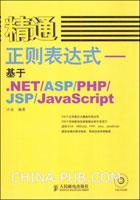精通正则表达式--基于.NET/ASP/PHP/JSP/JavaScript[按需印刷]