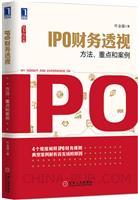 (特价书)IPO财务透视:方法、重点和案例