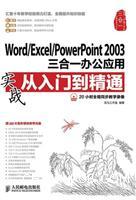 Word/Excel/PowerPoint 2003三合一办公应用实战从入门到精通