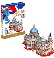 英国圣保罗大教堂-Q书架爱拼-3D益智手工107块-附赠精美全彩图册