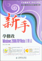 新手学修改Windows 2000/XP/Vista注册表