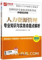 2013超值版 全国经济专业技术资格考试 中级经济师 人力资源管理专业知识与实务命题点解析