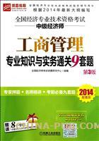 2014超值版全国经济专业技术资格考试中级经济师 工商管理专业知识与实务通关9套题(第3版)