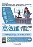 高效能人士都在用的工作法:Excel会计与财务职场实践技法