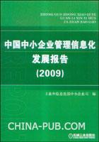 中国中小企业管理信息化发发展报告(2009)